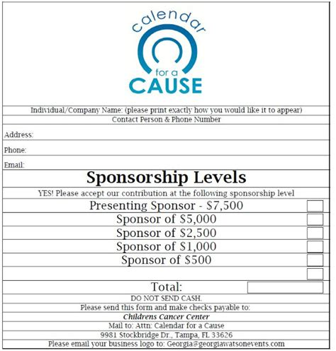 photo charity sponsor form images