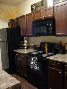 Dark Wood Cabinets With Black Appliances 25 Best Black Appliances Ideas On Pinterest