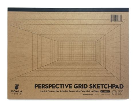 sketchbook grid 1 point perspective room grid sketch pad