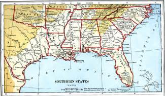 Map Of Southern States Of Usa by Southern States