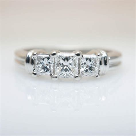 3 Wedding Ring by 3 Princess Cut Engagement Ring Wedding Ring