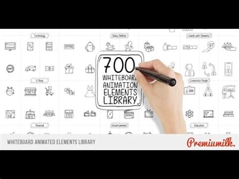 Whiteboard Animated Elements Library After Effects Template Youtube Whiteboard After Effects Template