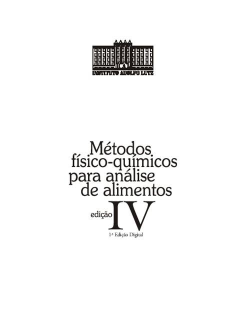 (PDF) LIVRO SOBRE ANÁLISE DE ALIMENTOS | Crislania Carla