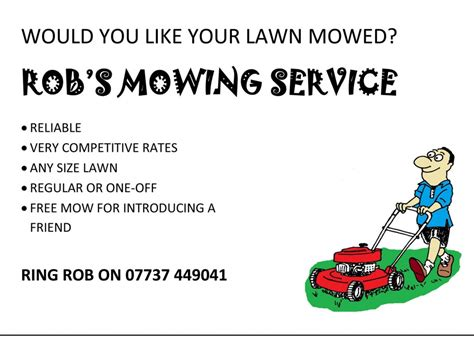 lawn mowing service flyer quotes