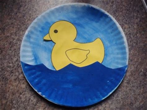 learning duck paper plate
