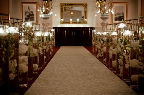 wedding aisle decorations with candles real wedding a snowy day with a sparkling candlelit