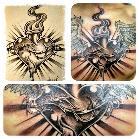 sacred heart tattoo designs trueartists park city