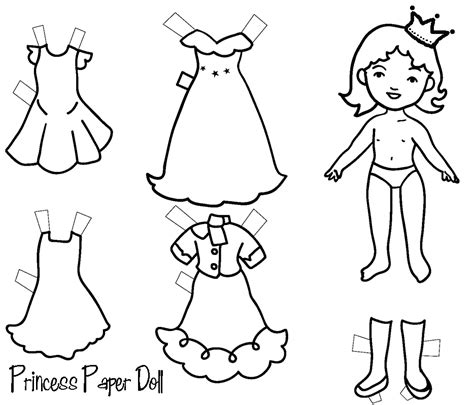 princess paper doll paper doll for kids princess