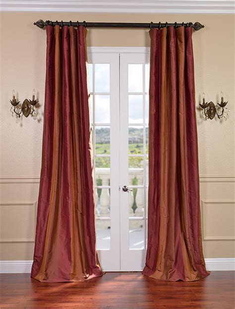 traditional drapery woodbury taffeta silk stripe curtains drapes