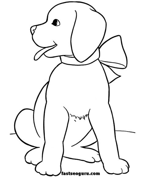 christmas dog coloring pages az coloring pages