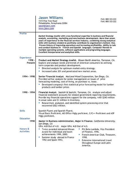 sle resume 85 free sle resumes by easyjob sle resume templates easyjob