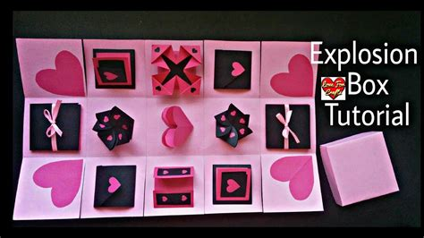 explosion box tutorial youtube infinity explosion box tutorial diy valentine s day