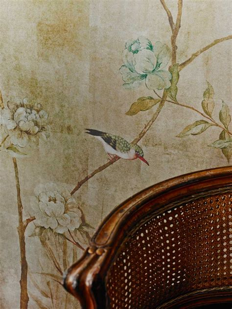 chinoiserie sidney paul gold mural wallpaper direct
