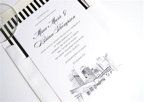Wedding Invitations Atlanta by Atlanta Skyline Wedding Invitations