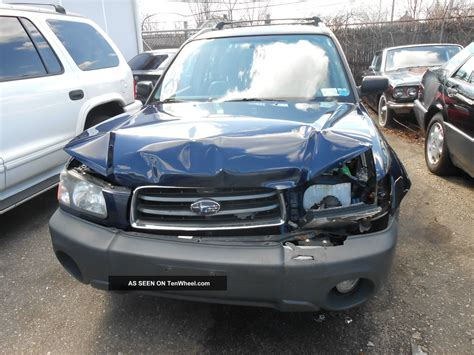 wrecked subaru 2005 subaru forester 25x repairable wrecked clear title