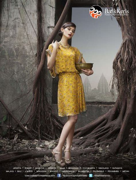 Batik Fashion Wanita Combination Nara Top model baju batik keris wanita terbaru model baju batik