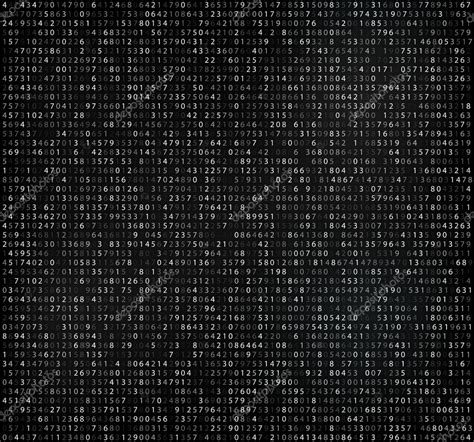 white background with falling numbers black matrix background with white digits computer code