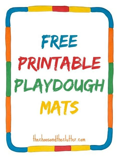 printable playdough activity mats 113 best images about early childhood ideas on pinterest