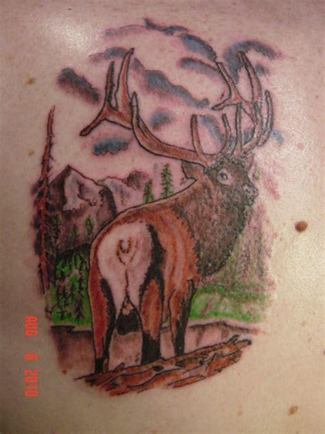 tribal elk tattoo designs elk wildlife design finished picture at