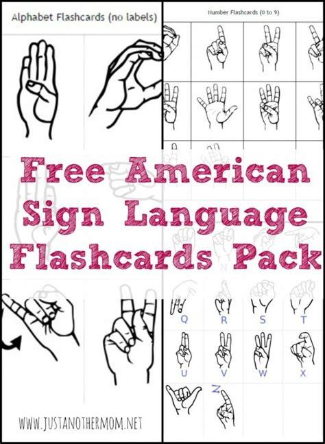 Free Printable Sign Language Alphabet Flash Cards