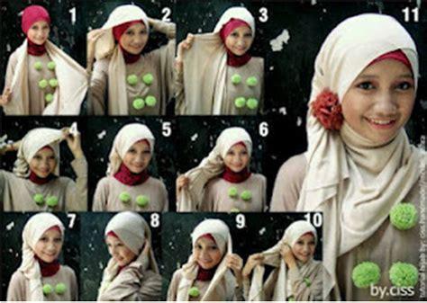 tutorial hijab pashmina kaos cara memakai pashmina kaos brekelesix s blog