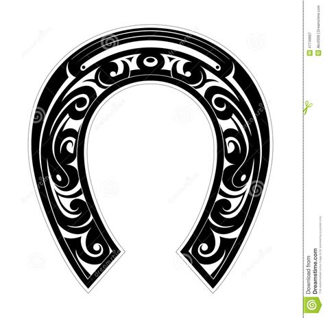 horseshoe as symbol of luck stock vector image 47749667