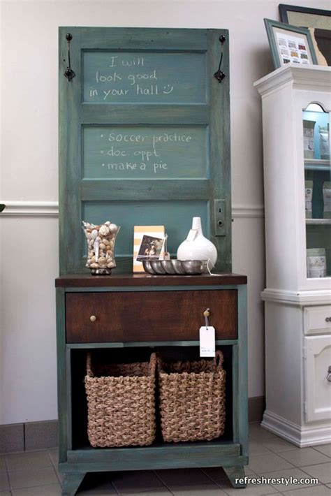 how to make an old door into a headboard repurposed door crafts easy craft ideas