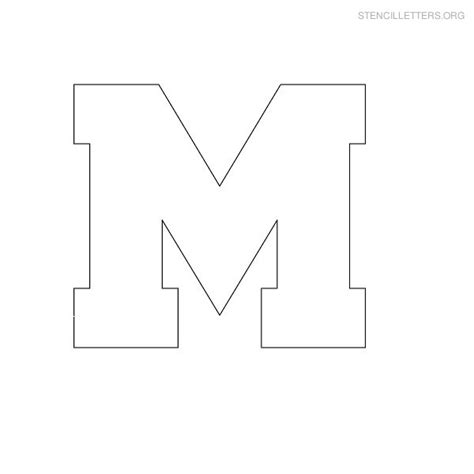 block letter template free free uppercase letter m coloring pages