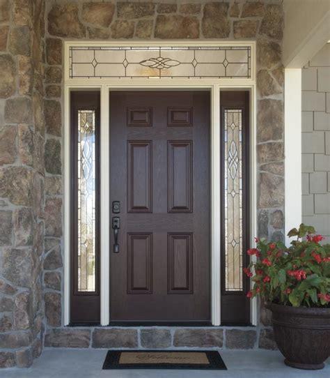 decorative glass front doors versatile durable fiberglass front doors with decorative