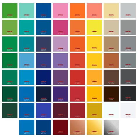 oracal 651 vinyl color chart oracal 651 glossy vinyl sheets 12 inch x 12 inch sale 0