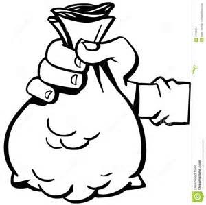 holding bag of money cartoon vector clipart stock vector