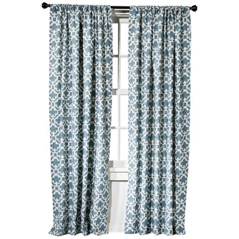 target curtains blue threshold farrah fretwork curtain panel target