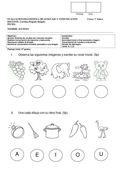 b and p l supply puntaje nota evaluaci 211 n diagn 211 stica de lenguaje y