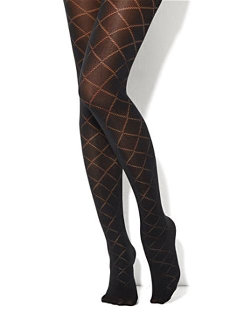 patterned diamond tights ny c diamond pattern opaque tights
