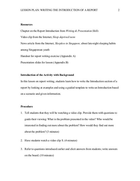 Introduction To Letter Writing Lesson Plan Writing An Introduction Lesson Plan Essay Writing Tutorial