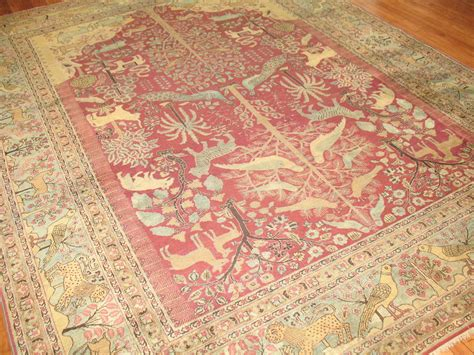 Persian Pictorial Animal Rug At 1stdibs Animal Rugs