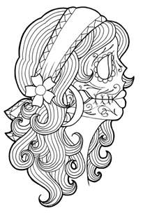coloring books for grown ups dia de los muertos get this printable dia de los muertos coloring pages dqfk15