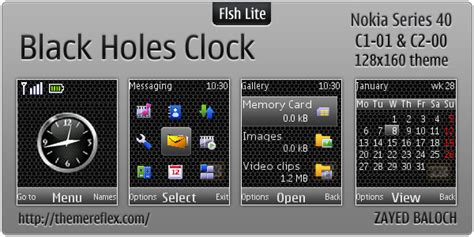 themes clock c1 black holes clock theme for nokia c1 01 c2 00 themereflex