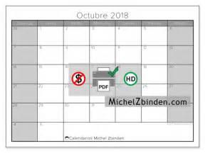 Calendario Octubre 2018 Calendario Para Imprimir Octubre 2018 Carolus Argentina