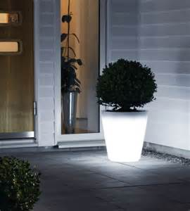 illuminated planter pot large h 400mm