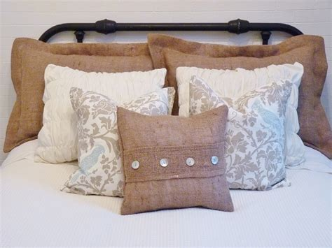 bed pillow decorating ideas amazing burlap pillow decorating ideas images in living