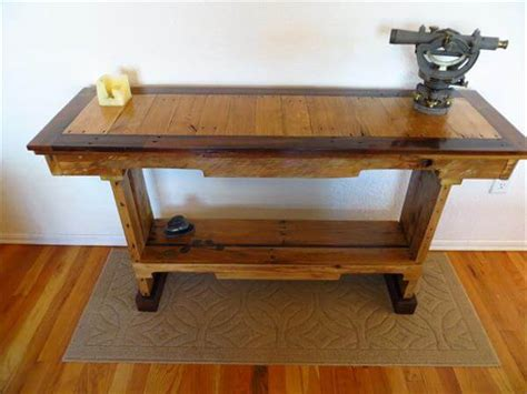 pallet sofa table diy chic pallet sofa table 101 pallets
