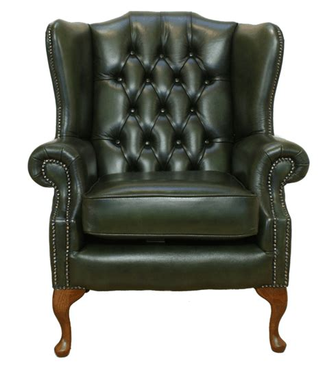 Chesterfield Wing Armchair by Chesterfield Armchair Mallory High Back Fireside Wing Chair Green Leather Ebay