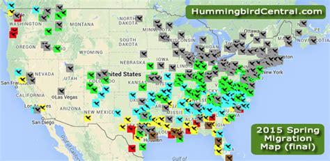 2015 hummingbird spring migration map 2015 hummingbird