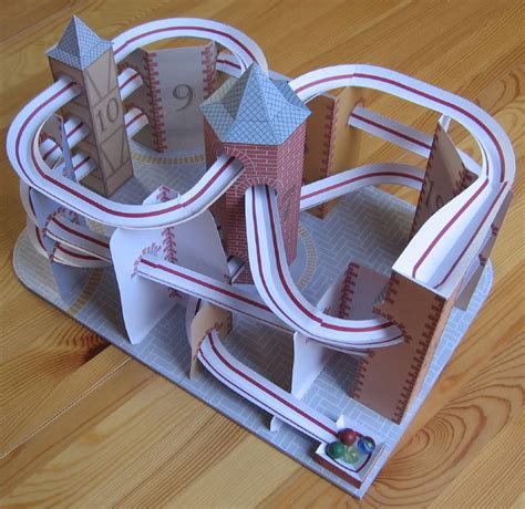 How To Make A Paper Roller Coaster Track - lutz s web site paper model roller coaster
