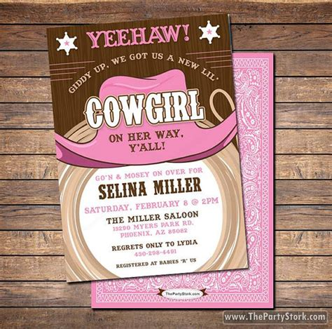 Western Theme Baby Shower Invitations by Baby Shower Invitations Printable Shower Or