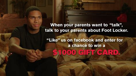 The Talk Com Sweepstakes - talk to your parents the sweepstakes foot locker blog