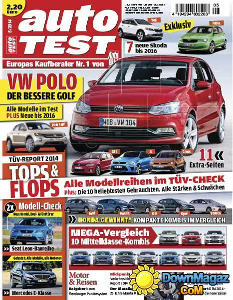 Auto Bild Magazin by Auto Bild Autotest Mai No 05 2014 187 Pdf Magazines