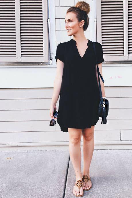 Black Simple Casual Dress black dress casual