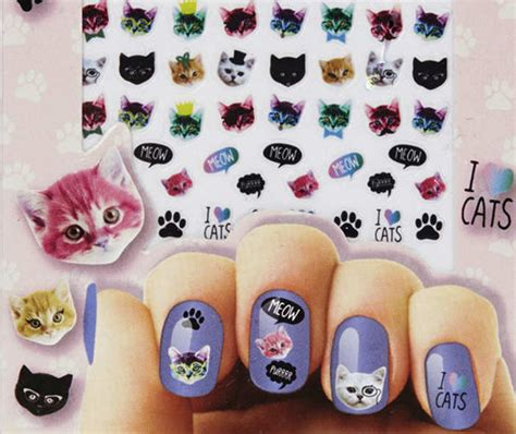 Cat Nail Sticker obsessed cat nail cat nail stickers